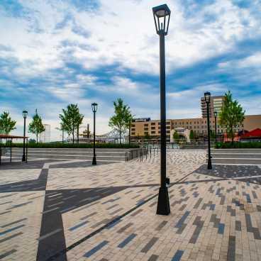 Stroll through Spanish Plaza