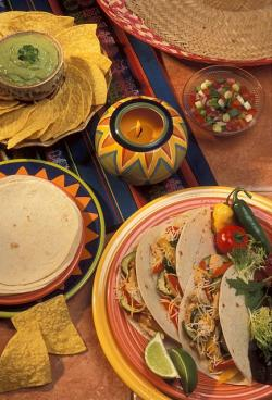 Delicious-looking tacos displayed beautifully on the table