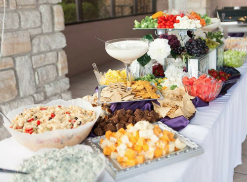 A lineup of food options from Divine Catering & Events in Dayton.