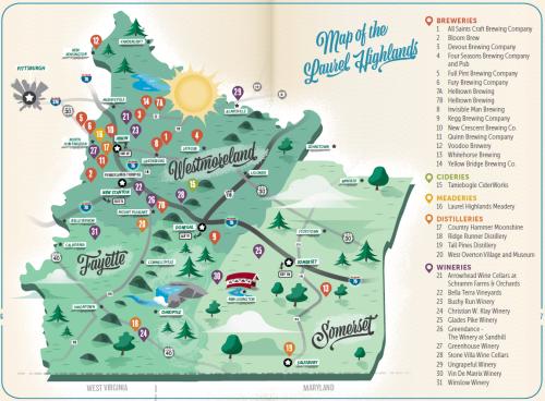 Pour Tour Map