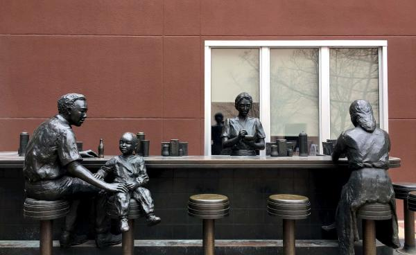 Dockum Store Sit-in Sculpture