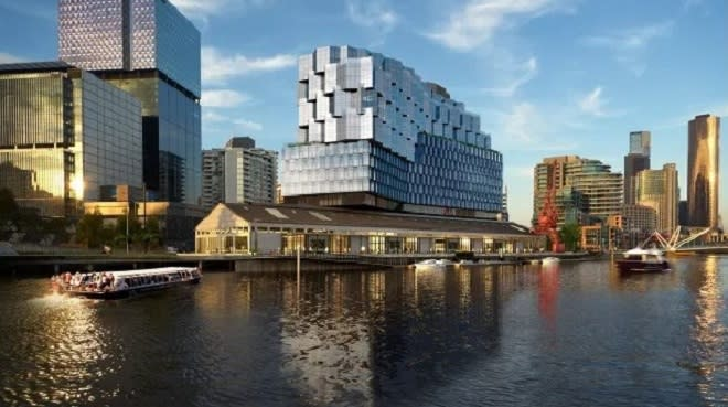 New sustainable hotel and 1000 seat function centre for Melbourne
