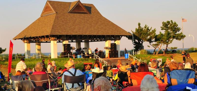 Spectators enjoy a performance at Ocean View Beach Park in Norfolk