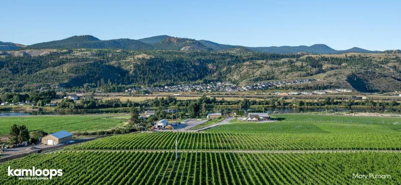 Aerial of Harper's Trail Winery in Kamloops