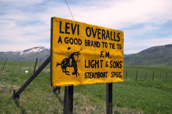 F.M. Light Levi Sign