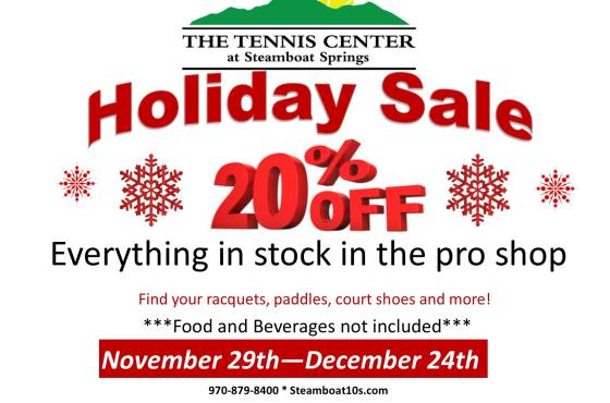 Tennis and Pickleball Center Holiday Sale