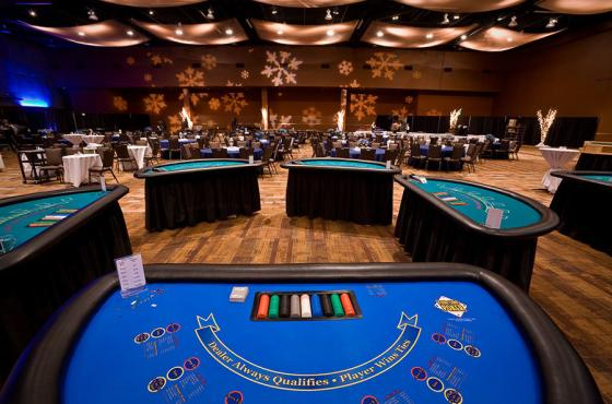 Holiday Party / Casino Night in Center Hall