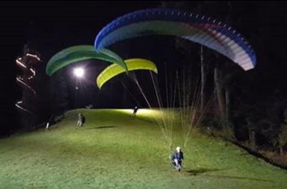 Tiger Mountain Paragliding Night Landing