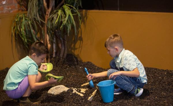 Kids playing at HMNS Sugar Land.