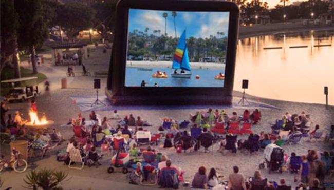 Newport Dunes Outdoor movies
