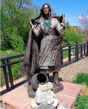 Statue along Clear Creek