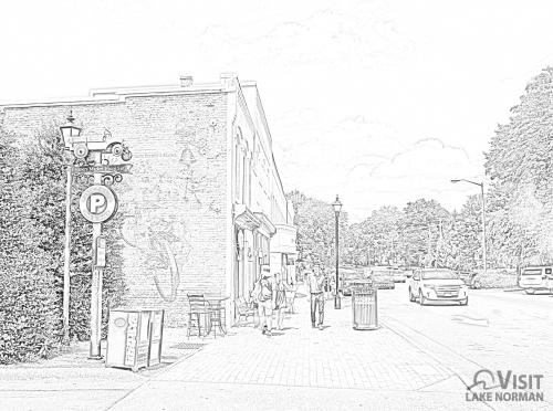 Downtown Davidson Coloring Page