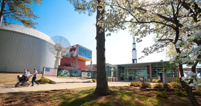 External view of the U.S. Space & Rocket Center in Huntsville, AL