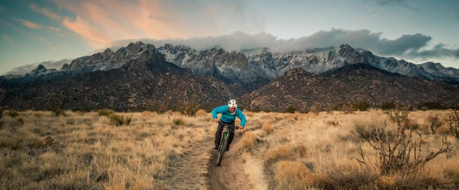 Mountain Biking Sandias Sunset