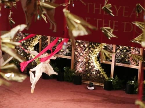 South Coast Plaza Lunar New Year Ribbon Dancer 2