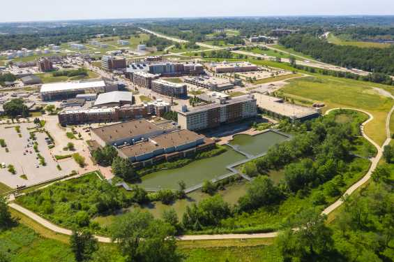 Iowa River Landing Aerial View