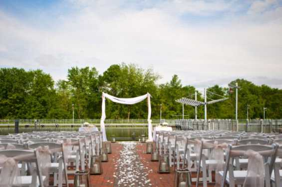 Ceremony on Patio