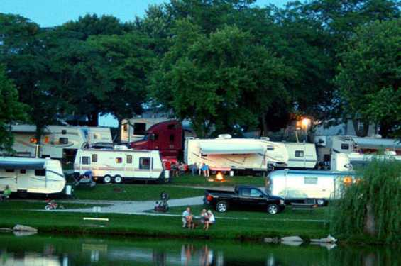 View of one camping area
