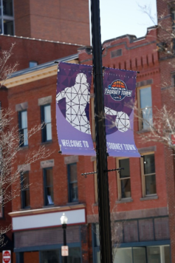 Downtown street banners