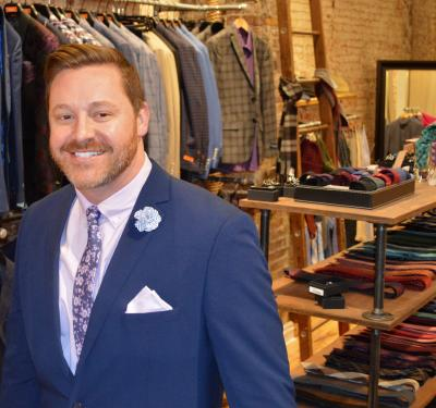 HIM Gentleman's Boutique Paul blue suit and ties