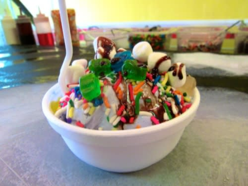 Bowl of ice cream from Kirt's