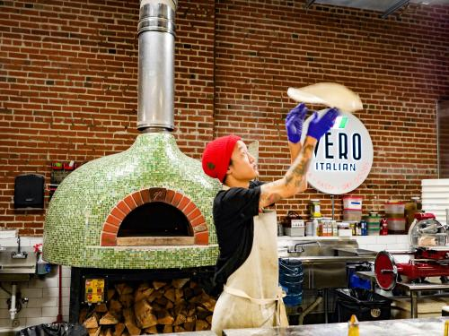 Pizza making at Denver's Vero