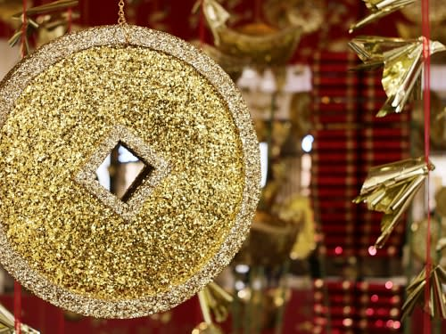 South Coast Plaza Lunar New Year Hanging Golden Coin