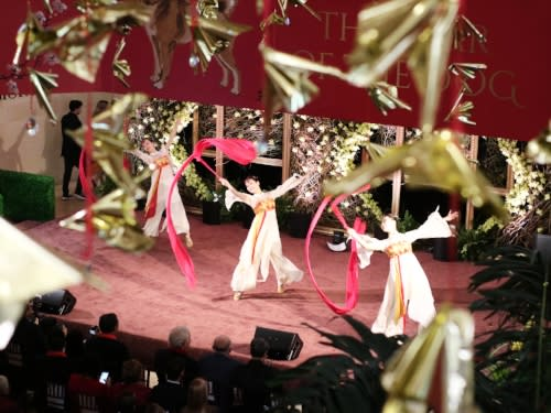 South Coast Plaza Lunar New Year Ribbon Dancing 2
