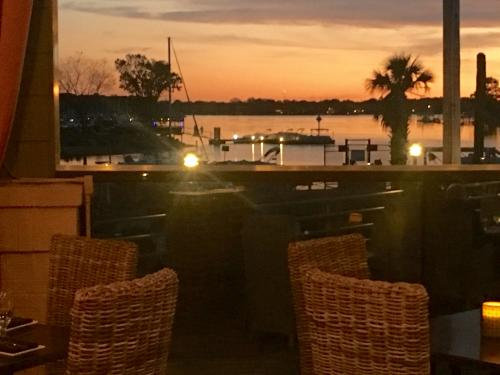 Sunset from the Port City Club in Lake Norman