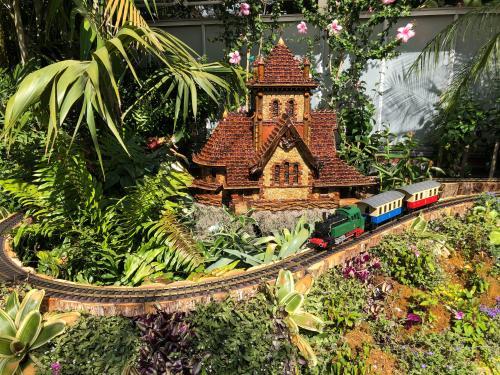 Biltmore Gardens Railway model train exhibition in Asheville, N.C.