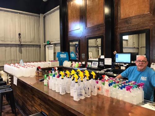 Crittenden Distillery hand sanitizer