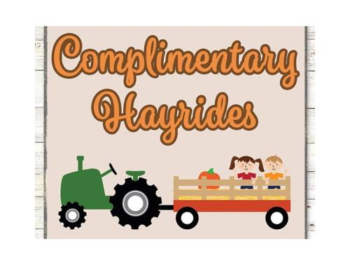 Complimentary Hayrides at The Market Common