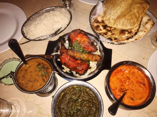 Several Indian Food dishes from Palace of Asia