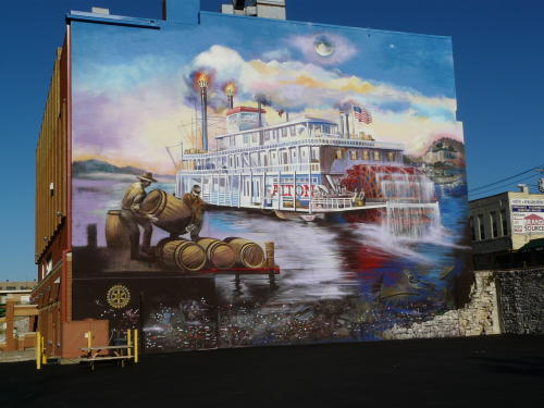 Steamboat Mural  No People