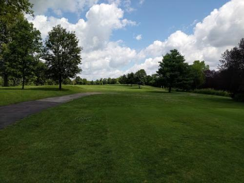 Green Fields and Trees At Jamaica Run Golf Course In Germantown, OH