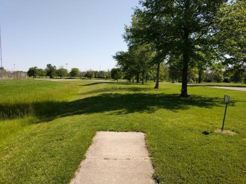 Path With Trees and Grass At Arthur O. Fisher Park In Dayton, OH