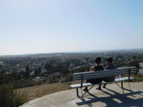 Bench overlooking Irvine, CA