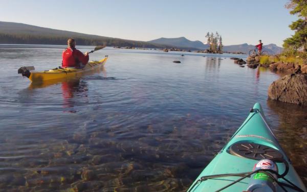 Waldo Lake Kayaking by Michael Sherman