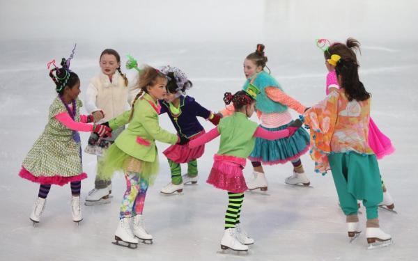 Girls Ice Skating at Alex and Ani Celebration