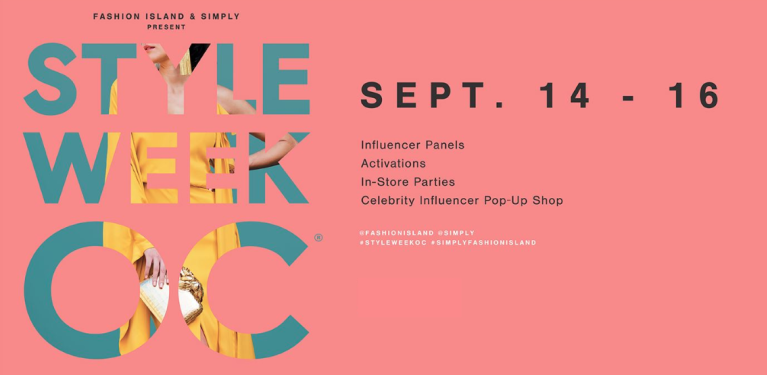 Style Week OC SIMPLY Fashion Island Event Banner