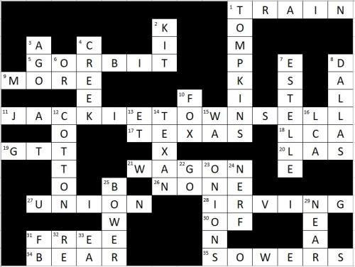 Crossword Puzzle Key