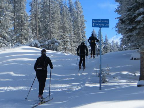 Cross country skiing on Grand Mesa