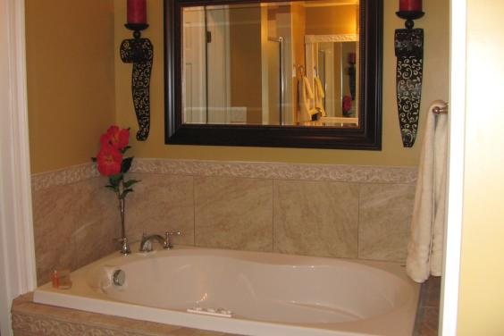 Jacuzzi tub added to master bath in unit 1210 Treasure Island