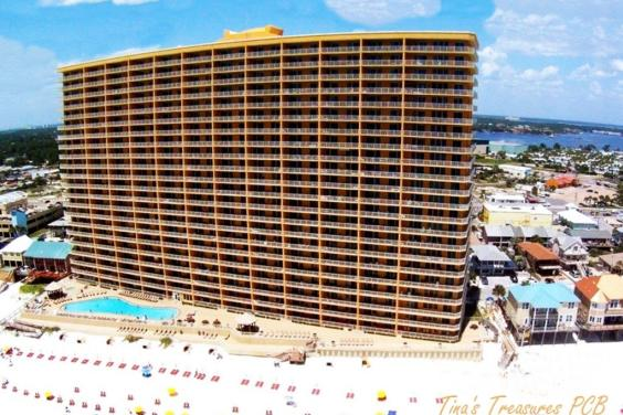 Treasure Island Resort Building from air