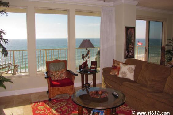 Tina's Treasure Island 3 BR Luxury Beach Condo - View of Great Room