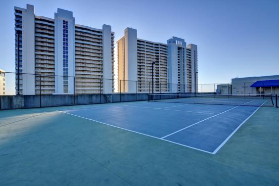 Play Tennis with a view.