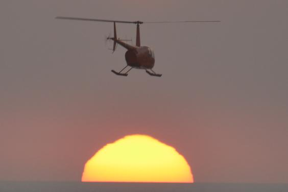 sunset copter