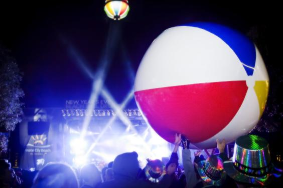 New Years Eve Beach Ball Drop - Giant Ball
