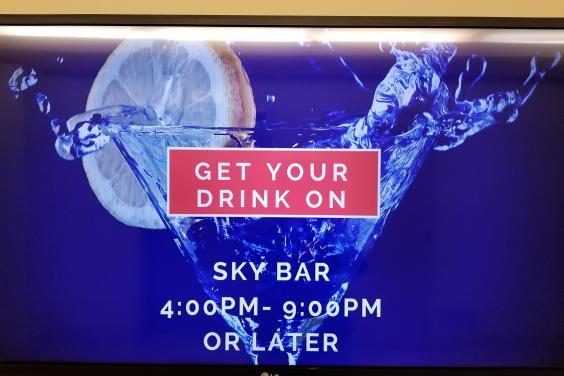 On-site Sky Bar