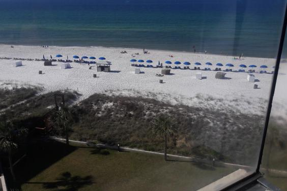 Beachfront view from condo